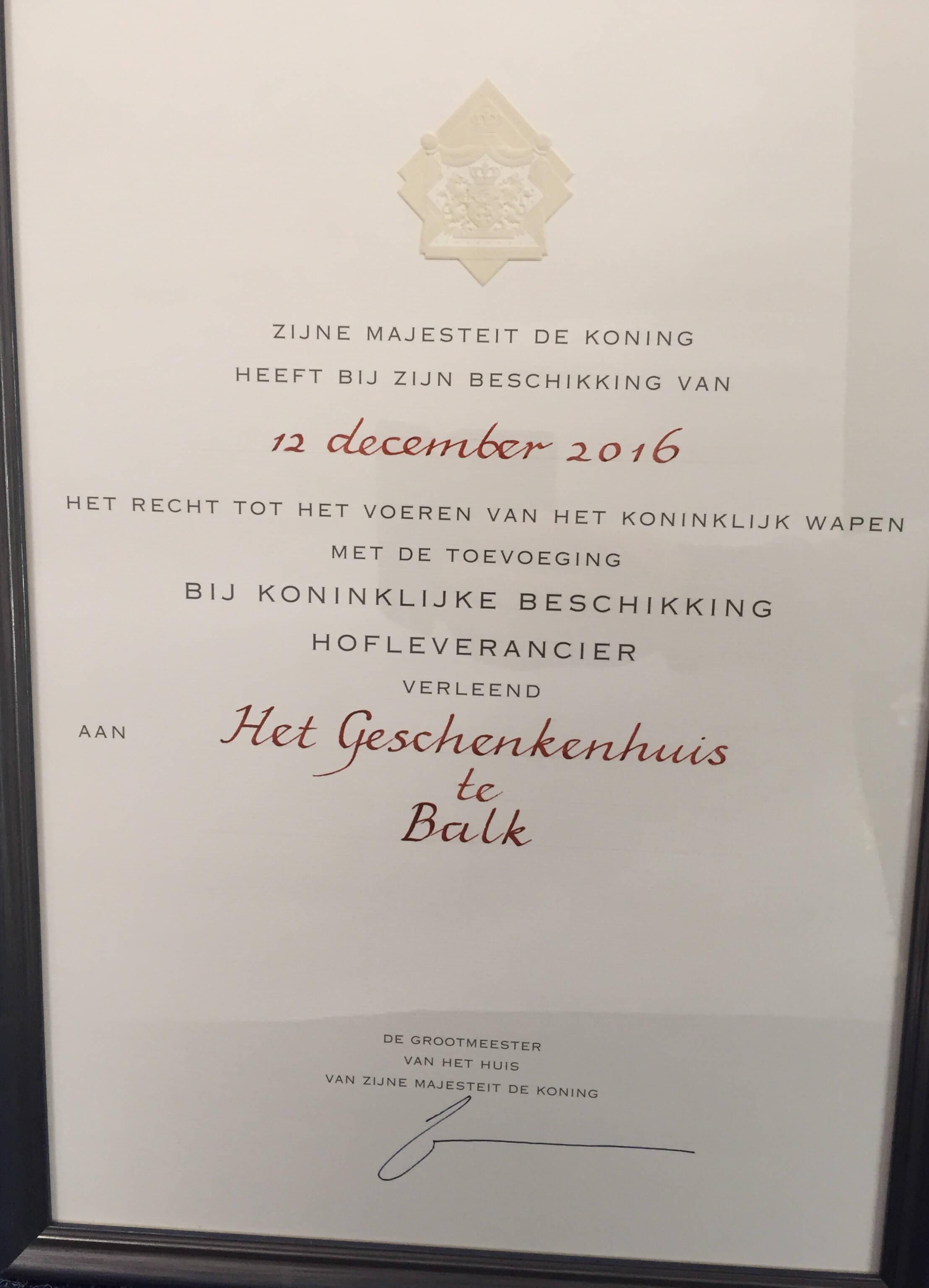 Het Geschenkenhuis in Balk is Hofleverancier (3)
